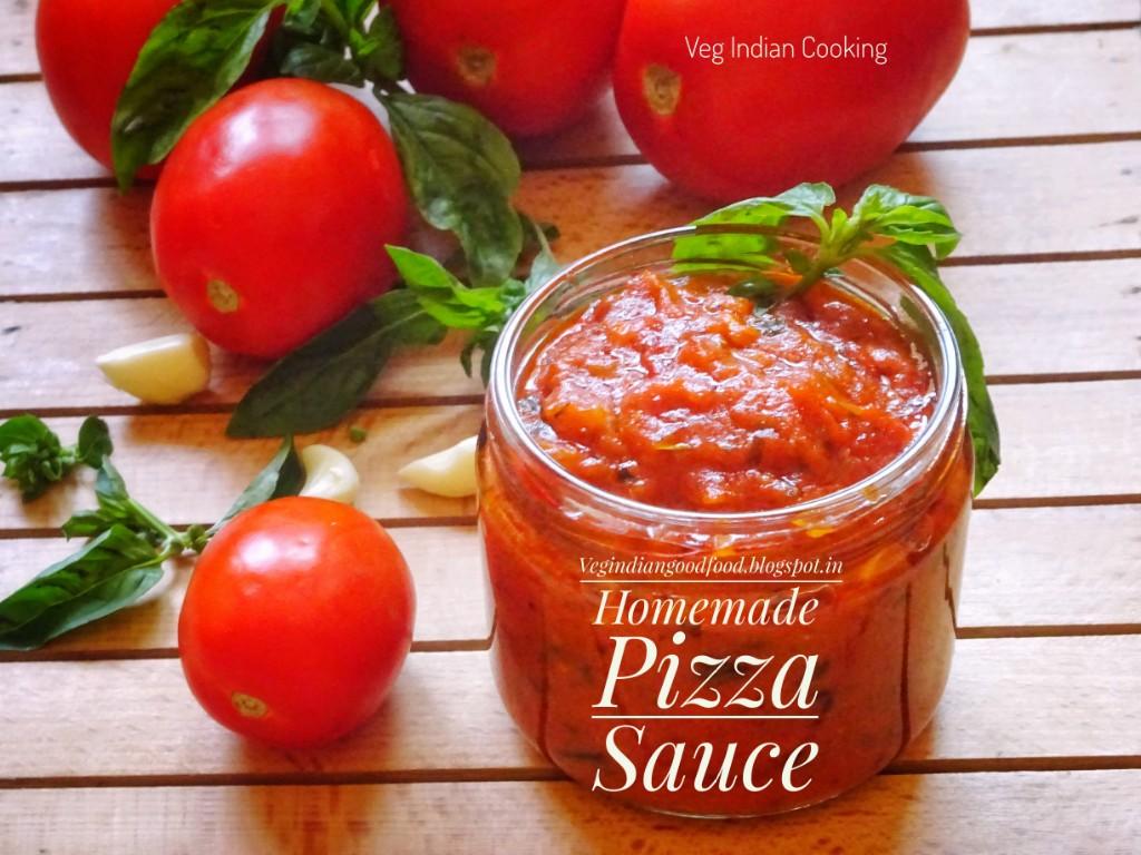 veg indian cooking homemade pizza sauce recipe