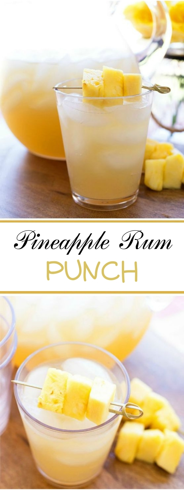 Pineapple Rum Punch #punch #drinks