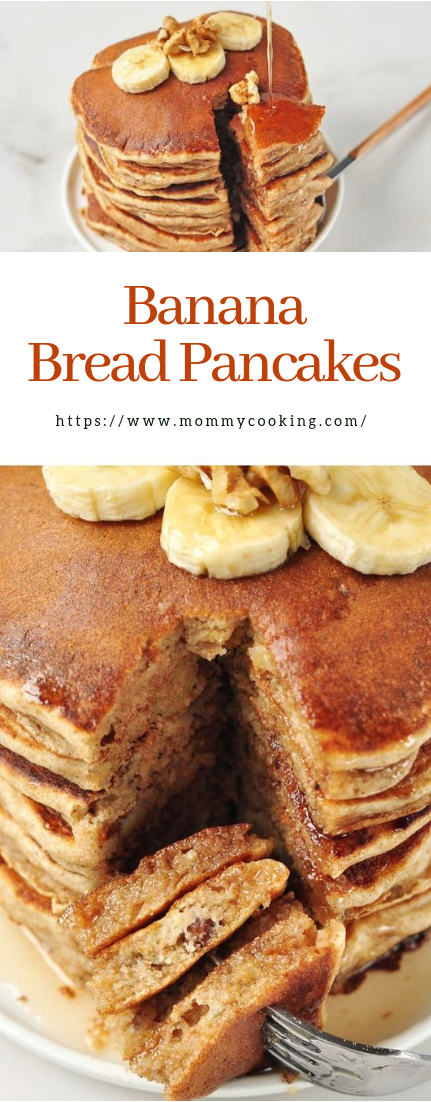 Banana Bread Pancakes #simplemeals #healthy