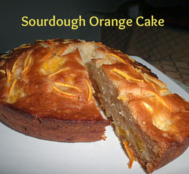 Sourdough Orange Cake Recipe @ treatntrick.blogspot.com