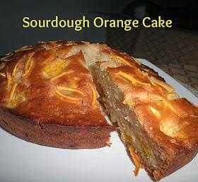 Sourdough Orange Cake Recipe @ treatntrick.blogspot.com