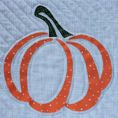 Pumpkin Applique Block by QuiltFabrication