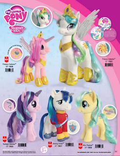 MLP Princess Celestia, Starlight Glimmer, Shining Armor, Princess Cadance and Coco Pommel Aurora Plush