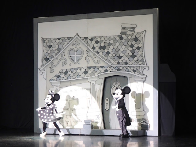 Mickey & Minnie Mouse in One Man's Dream show, Tokyo Disneyland, Japan