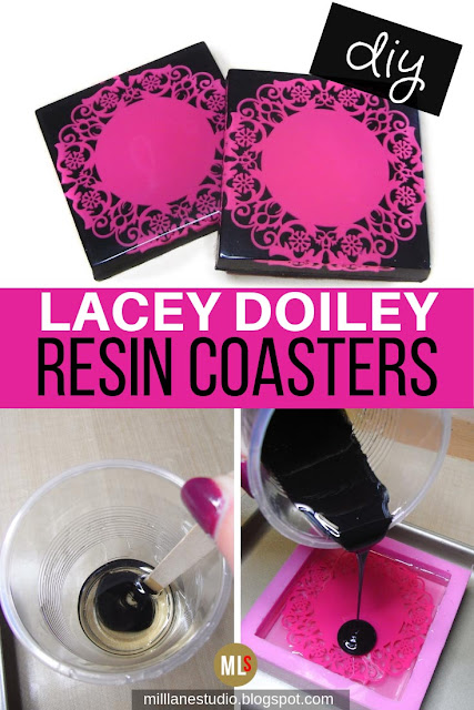 DIY Lacey Doiley Resin Coasters inspiration sheet
