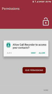 automatic call recorder pro permissions