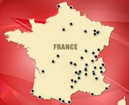 La carte des points noirs - France