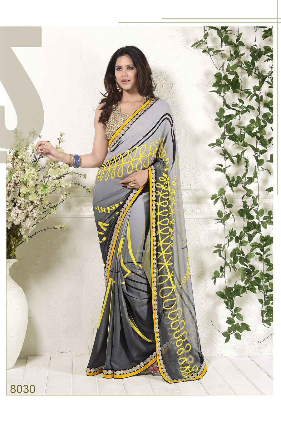 Meera 4-Latest Fashion Stylish Georgette Fancy designer Saree