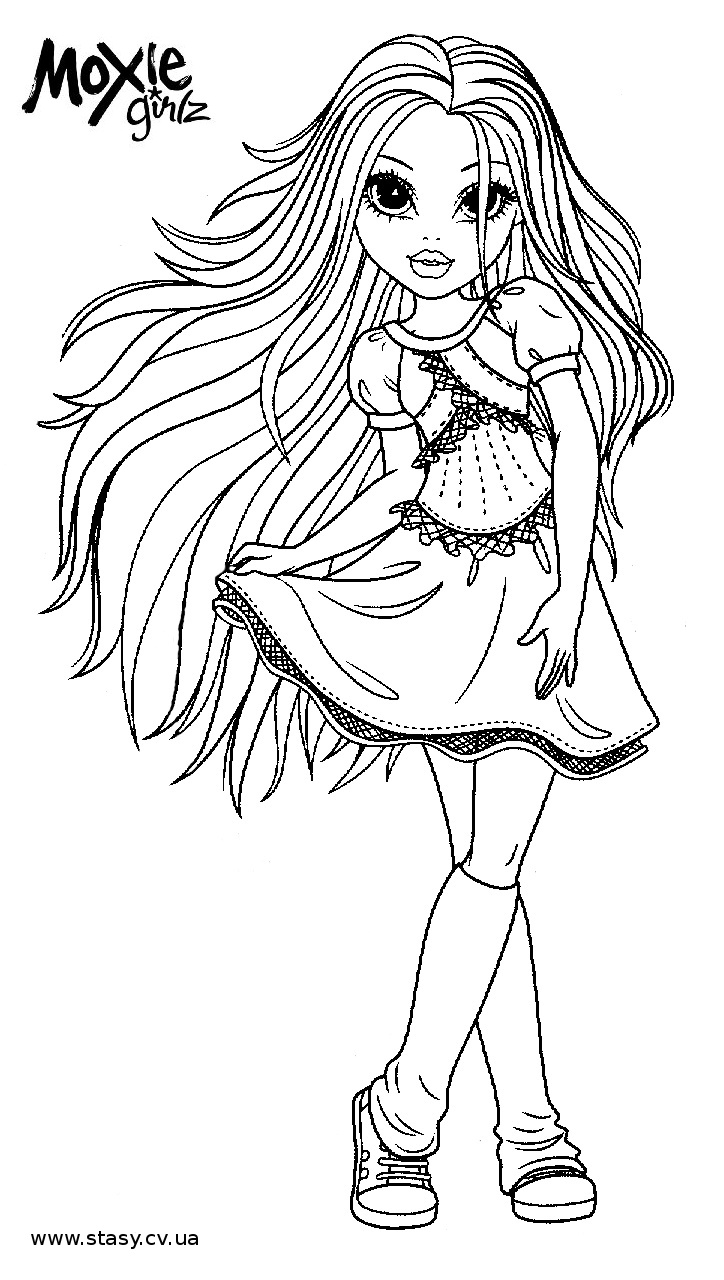 moxie girlz coloring pages for kids