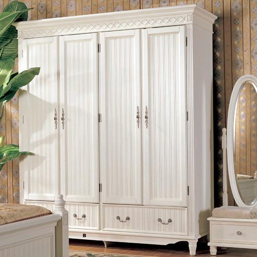 Small White Wooden Wardrobe