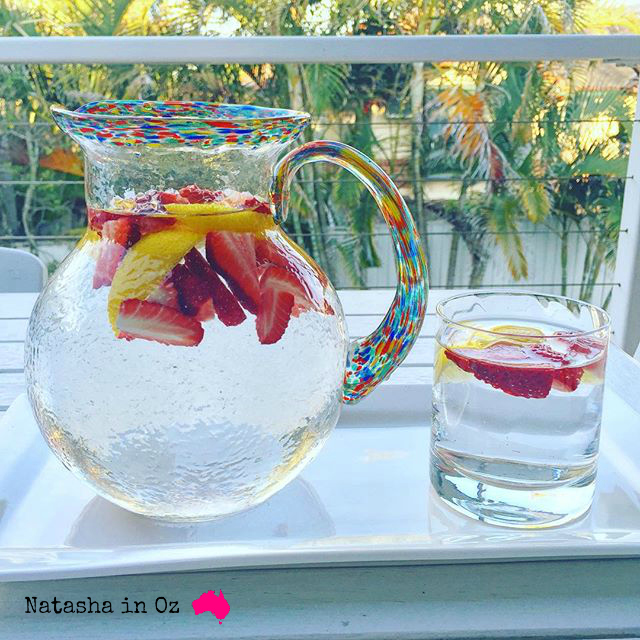 Fruit Infused Water via @natashainozblog