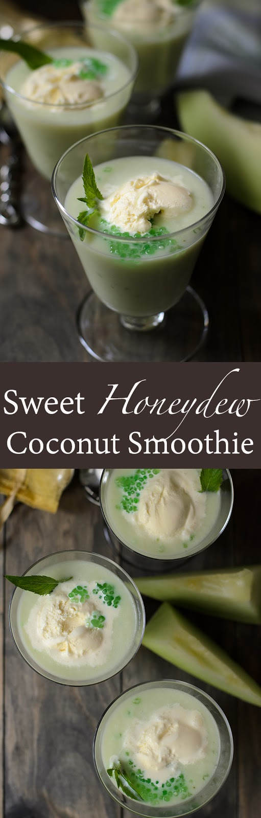 Honeydew blend with coconut milk