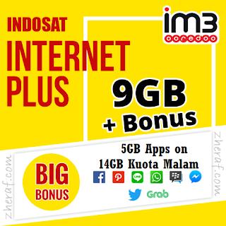 Inject Kuota Indosat 28GB - Paket Data Im3 9GB + Bonus