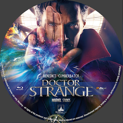 Label Bluray Doctor Strange