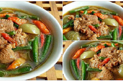 Resep Asem-Asem Daging dari Bunda Ninik Memang Enak bikin Seger, di Makan Hangat Plus Cabe Rawit Maknyus !!