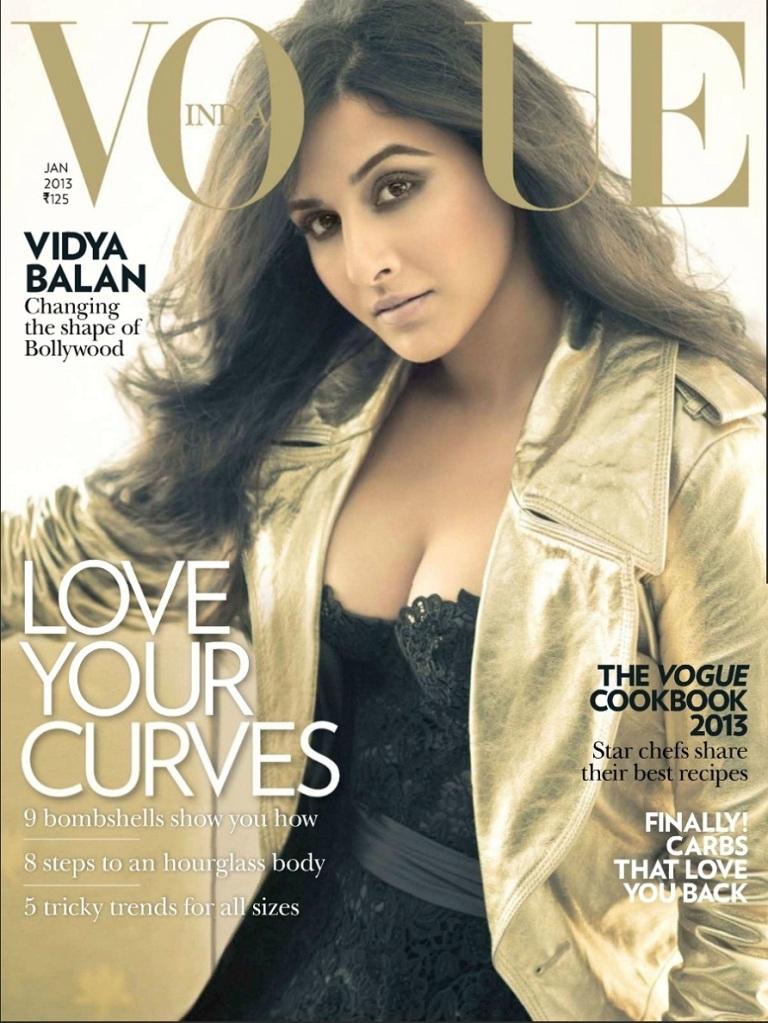 Vidya balan sizzling on the vogue magazine
