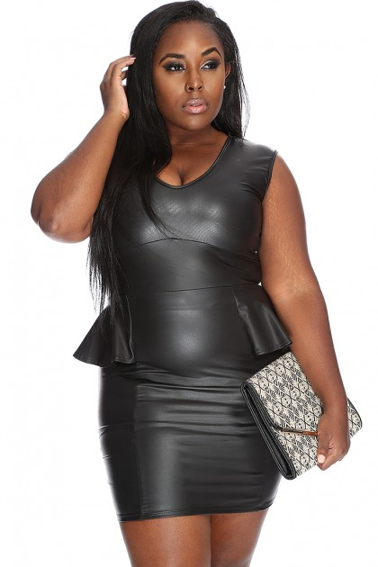 Plus Size Leather Dresses