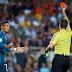 Cristiano Ronaldo é suspenso com cinco jogos por expulsão e empurrão