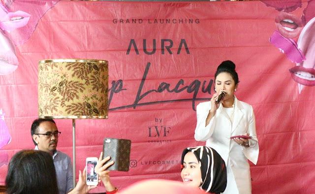 Krisdayanti at LVF Aura Lip Lacquer Press Launch