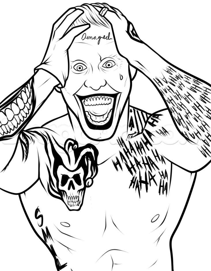 Dibujos De Joker Escuadrón Suicida Para Colorear Pintar E