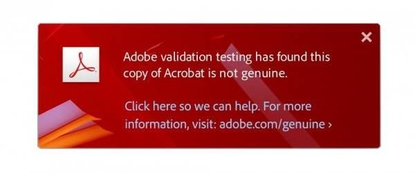 notificação da Adobe