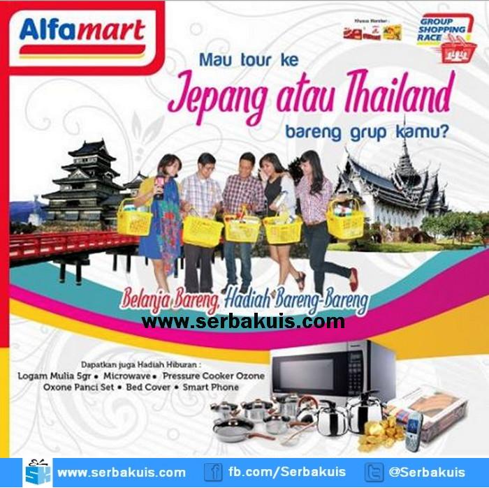 Promo Belanja Bareng Alfamart Berhadiah Tour ke Jepang & Thailand
