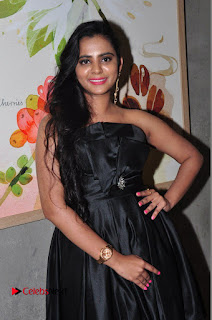 Actress Manasa Himavarsha Pictures in Black Short Dress at The Great Hydrerabad Life Style EXPO II  0026.JPG