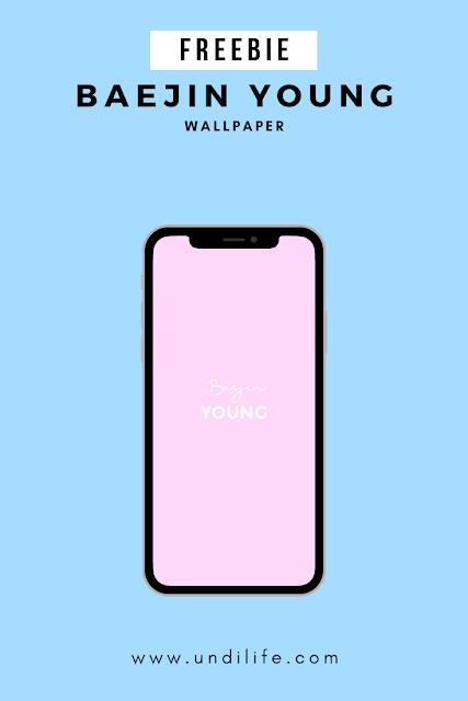Freebies Wallpaper iPhone X Baejin Young