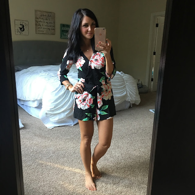 black floral romper, amazon prime