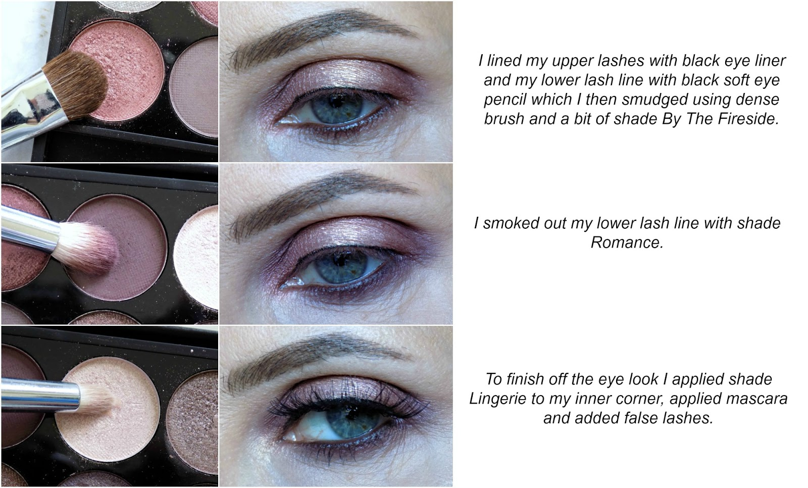 eye makeup tutorial: soft romantic eyes using Sleek Goodnight Sweetheart palette