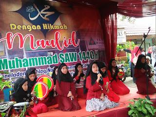 penampilan qosidah SDN Ratujaya 1 pada acara mauid nabi muhammad saw