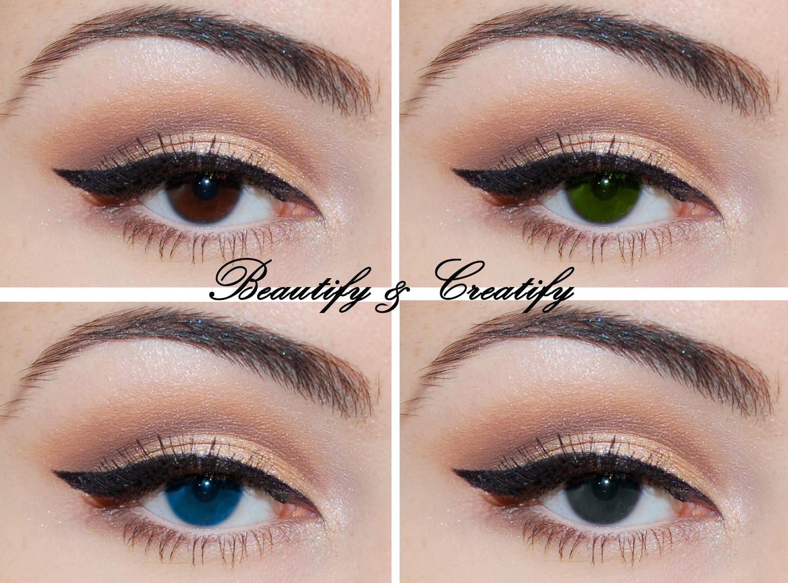 Natural Beige Eye Makeup