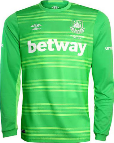 e9703c753 The new West Ham United 2015-2016 Goalkeeper Strip combines different  shades of green and features a unique graphic print on the front. The Umbro  West Ham ...