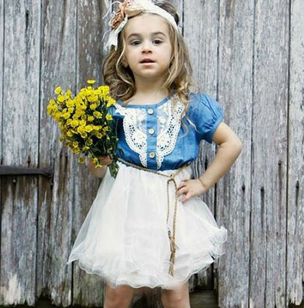 CLICK Cute Denim Dress for Girls