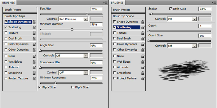 custom photoshop water wave brush