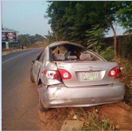 Accident Scene Photos: Nollywood 'AKi & Pawpaw' Producer