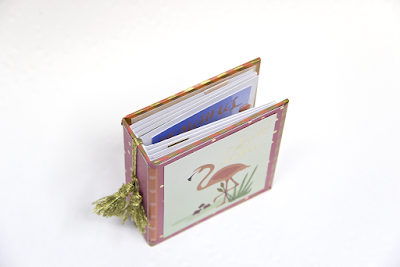 Einfaches Graupappe Minialbum mit Anleitung