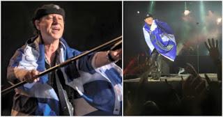 H φοβερή στιγμή που οι Scorpions τραγουδούν στο Καλλιμάρμαρο το «Wind of Change» με την ελληνική σημαία αγκαλιά
