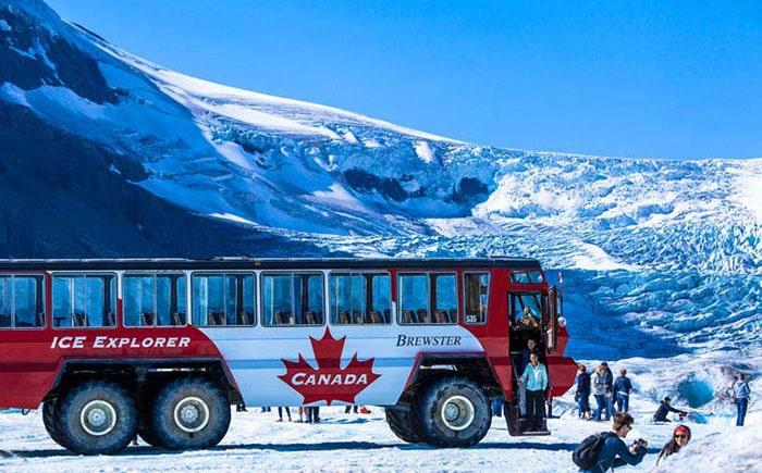 Достопримечательности Канады и ледник Атабаска