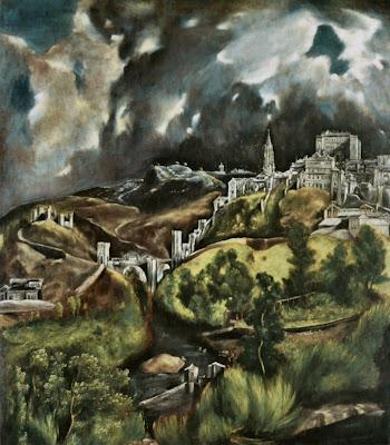 El Greco «View of Toledo» 1595-1610