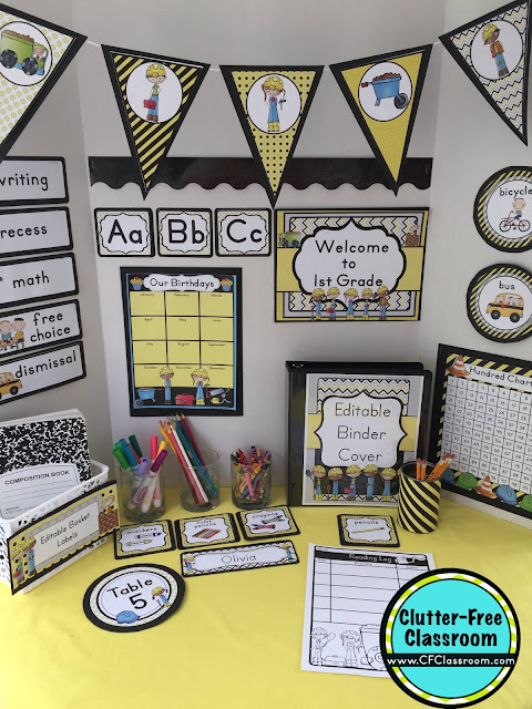 Classroom Decoration Free Download ~ Construction themed classroom ideas printable