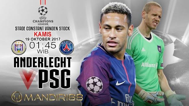 Di putaran ketiga Liga Champions fase grup pada tengah pekan ini akan ada sebuah pertandi Berita Terhangat Prediksi Bola : Anderlecht Vs Paris Saint-Germain , Kamis 19 Oktober 2017 Pukul 01.45 WIB