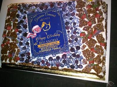torta di compleanno blu angels
