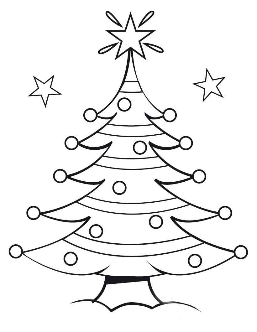 Free Coloring Pages: Christmas Tree Coloring Pages | christmas tree coloring pages