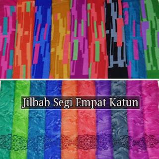 Grosir jilbab segi empat katun modern motif terbaru harga murah