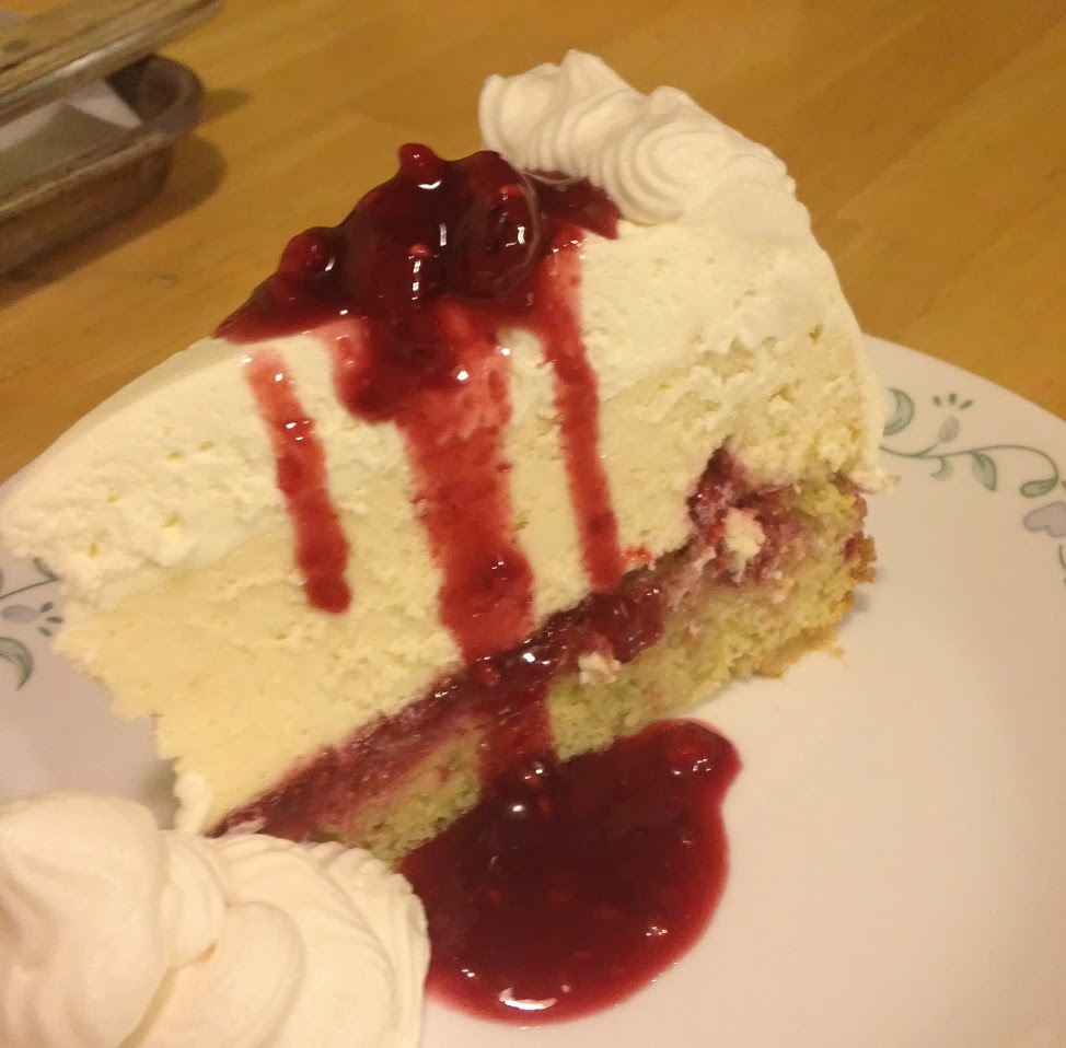 Life Tastes Good Again Lemon Raspberry Cream Cheesecake