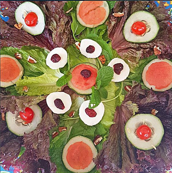 Sete saladas diferentes
