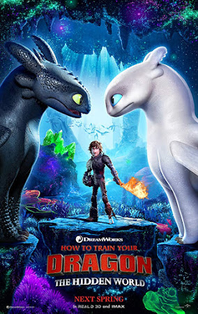 Poster Of How to Train Your Dragon: The Hidden World In Dual Audio Hindi English 300MB Compressed Small Size Pc Movie Free Download Only At worldfree4u.com