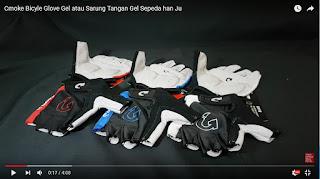 Glove Gel CMOKE murah dan keren Mirip Specialized dan Pearl Izumi