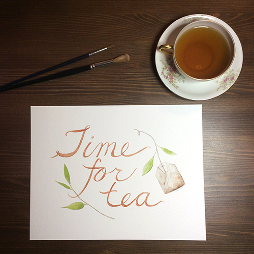 'Time for Tea' Watercolour Print